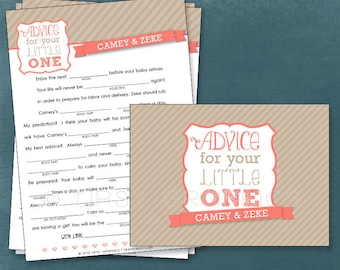 Simple Stripes Funny Baby MadLibs. Advice for your Little One. By Tipsy Graphics. Printable Cards, any colors
