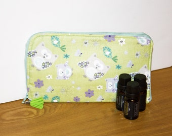 Essential Oil Travel Case - Owl Bag - Owl Essential Oil Bag -  Essential Oils Case - Essential Oils Bag - Oil Pouch - Essential Oil Storage