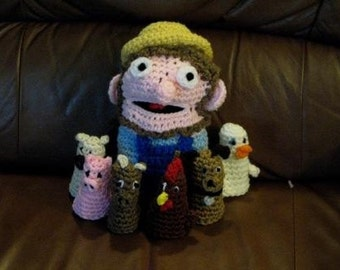 Crochet Old MacDonald Puppet Set