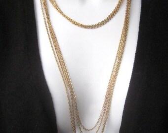 SALE Vintage Multi Chain Necklace