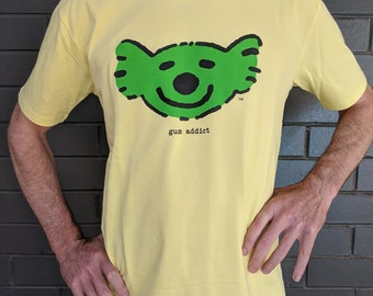 Seriously happy koala t-shirt by gum addict, men's.
