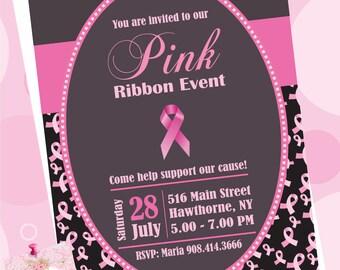 PINK RIBBON INVITATION