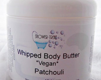 Pure Patchouli Vegan Body Butter, Sweet Almond and Shea Lotion