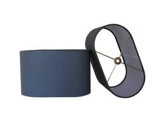 Oval Lamp Shade, Custom Lamp Shade Linen Lamp Shade, Grey Lampshade, White Lamp Shade, Fabric Lampshade, Made to Order