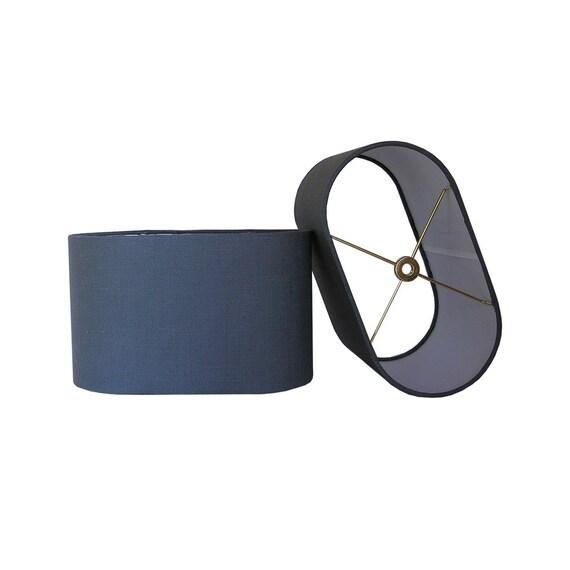 Oval Lamp Shade Custom Lamp Shade Linen Lamp Shade Grey