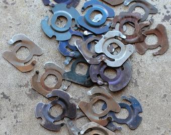 Vintage clock parts -- light metal -- D8