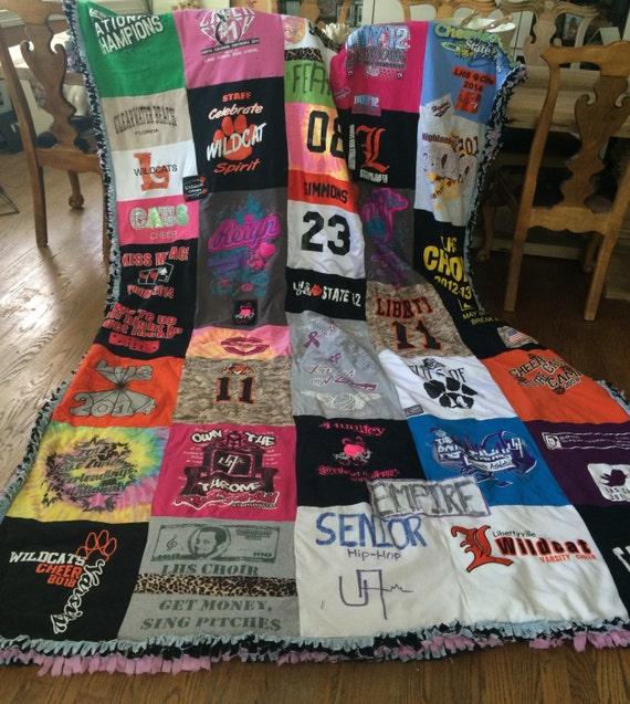 Large Custom Handmade TShirt Blanket/Quilt Memory Blanket