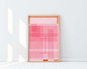 Orange you Pinky  Art Print   Pink Art   Feminine Art