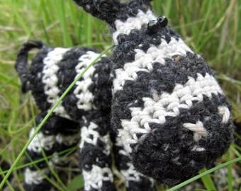 Zippy - a hand crocheted zebra!
