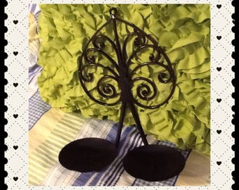 Sconce Wall Vintage Wrought Iron Handmade 2 Pillar Candle Holder Home Decor Country Decor Wall Art Wall Hanging Cottage Chic Decor Victorian