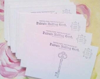 Postcards, Blank Postcards, Set of 50, Postcard, Wedding Favor, Soft White