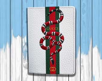 Gucci Passport Cover Gucci Snake Passport Holder Gucci Passport Case Gucci Logo Passport cover Gucci Travel Passport Leather Passport case