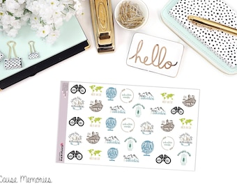 LET'S ADVENTURE Quotes  Paper Planner Stickers