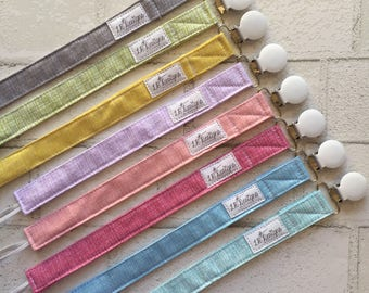 Pacifier Clips | Gender Neutral Pacifier Clips | Baby Girl Gift | Baby Boy Gift | Binky Clips | Baby Accessories |