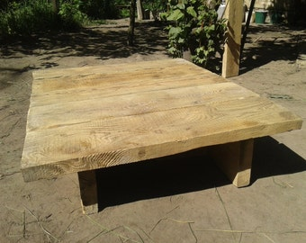 Solid Wood Table, Living Room Table,large Coffee Table,farmhouse Table,diy