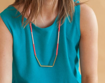 Long Stripe Necklace