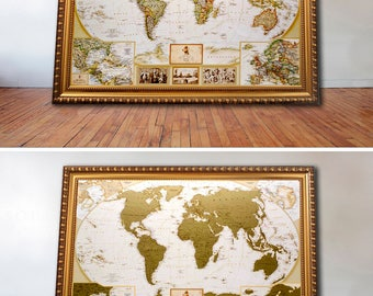 Us scratch off map etsy travel gift for him scratch world map push pin personalized journal travel map scratch gumiabroncs Image collections