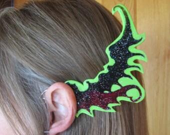 Unisex Dragon Ear Wings - Large St. Patrick's Green