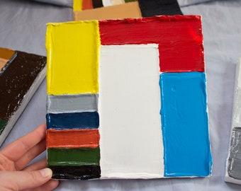 Painting, acrylic, decor, art, Mondrian
