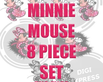 MinnieMouse Clipart;PNG,INSTANT DOWNLOAD