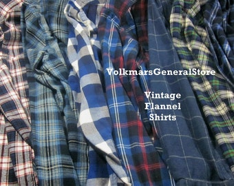 Vintage Oversized Flannel Shirts