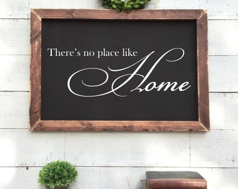 There's no place like home, framed chalkboard