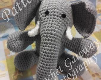 Elephant, Baby Elephant, crochet elephant, pattern, elephant crochet pattern