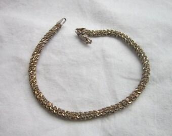 Vintage Sparkly Rope 925 Sterling Silver Bracelet