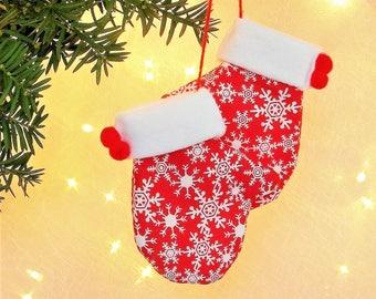 Felt Ornaments Felt Christmas Ornaments Felt Red Ornament Felt Mitten Ornaments - Red Felt Ornaments, Red Mitten Ornaments