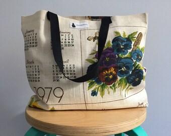 Vintage Tea Towel Tote Bag - 1979