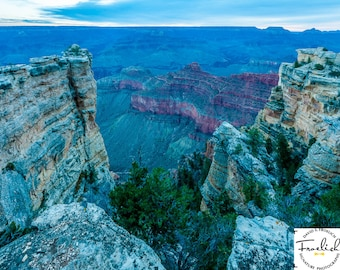 "Magnificent Grand Canyon ""South Rim Crevasse"" Fine Art Photograph (9.5"" x 13.25"" print on 14"" x 18"" archival board) Limited Edition Signed"
