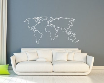World map wall sticker design wall travel decor adventure world map wall sticker design map of countries wall decal wall travel decor gumiabroncs Image collections