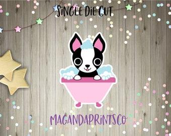 Boston Terrier Die Cut/Cute Animals/Die Cut Sheets/Planner Stickers