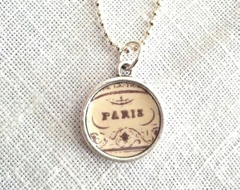 Petite Paris Pendant, lovingly handmade in Brooklyn by Wishing Well Studio.