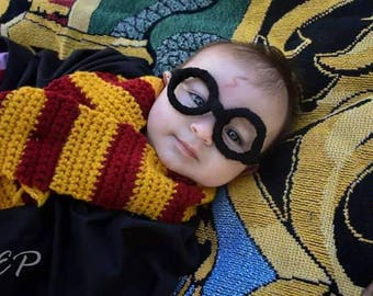 Magical HP Gryffindor Scarf Baby Photo Prop Costume Halloween Baby Shower