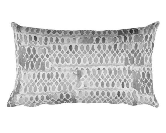"Gray Artistic Pillow, 12""x20"""