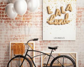 La-La Land - Los Angels City, Map Poster, Minimalism Poster, Los Angeles Map Print