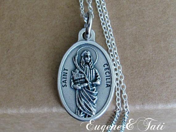 Saint cecilia st cecilia necklace st cecily pendant aloadofball Gallery