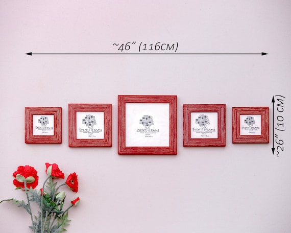 Square Picture Frame Set of 5 Frames Sizes 8x8