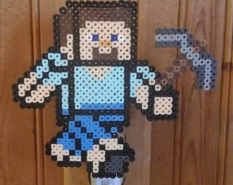 Steve Minecraft Pixel Nightlight for Children Teens Adults Gifts for Him Her Gamers Game Room