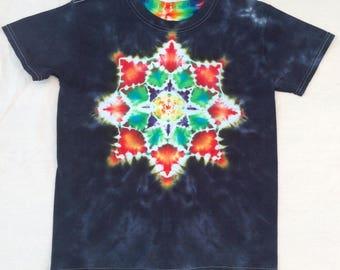 Tie Dye Mandala T Child Large by Barry Boyland