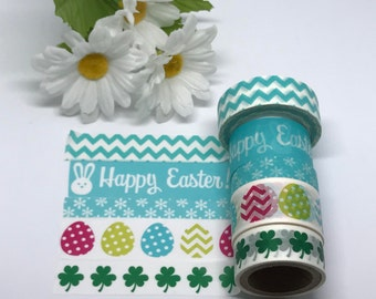 """Easter Washi, Easter Eggs, Bunny, St. Patrick's,  24"""" samples"""