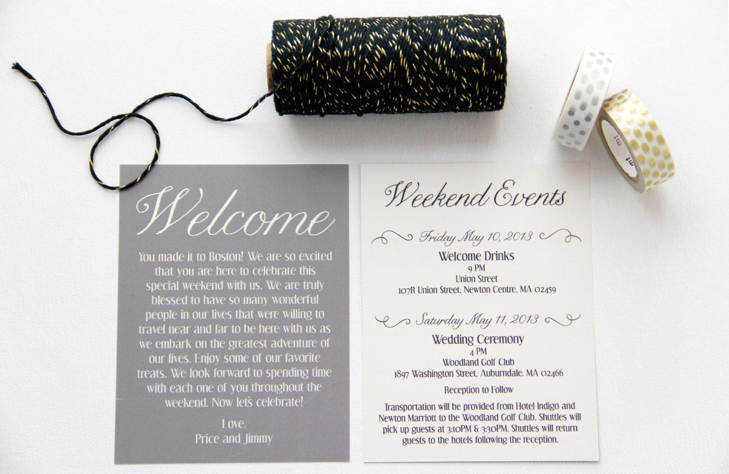 wedding welcome cards - Daway.dabrowa.co