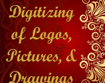 Custom Embroidery Digitizing for logos, pictures or drawings