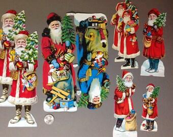 Lot of LARGE Vintage Santa Paper Ephemera