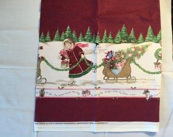 "Daisy Kingdom To Grandma's House border fabric. - 1 yd 13"""