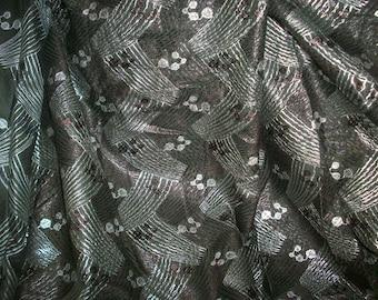 Coton avec imprimé tissu métal antique déco