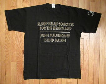 Blind Melon Shirt Vintage tshirt 1993 John Cougar Mellencamp Flood Concert Rock XL