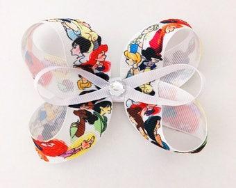 Disney Princess Watercolor Bow Clip