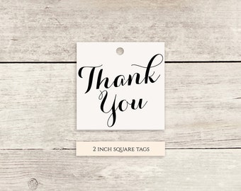Thank You Favour Tags printable template Thank You printable - Instant Download | 2x2 inch | Any colours | Byron | Editable template tags